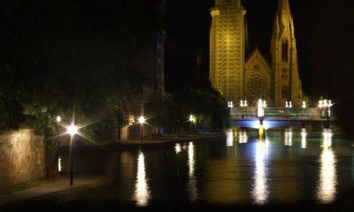 Zdjecie FRANCJA / - / STRASBOURG / spacer noca
