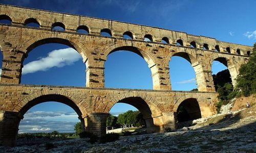 Zdjecie FRANCJA / Prowansja / Pont Du Gard / Rzymski akwedukt