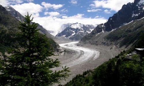FRANCJA / Chamonix / Alpy / Lodowiec