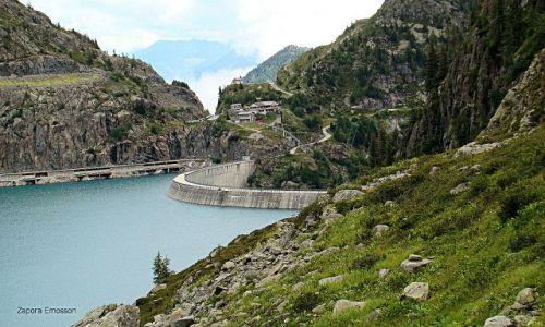 Zdjecie FRANCJA / - / okolice Chamonix / zapora Emosson