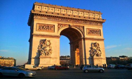 Zdjecie FRANCJA / - / Paryż / Łuk Triumfalny -Place Charles de Gaulle at Champs Élysées