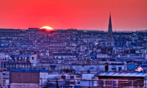 FRANCJA / Paris / Paris street / Sunset by Paris