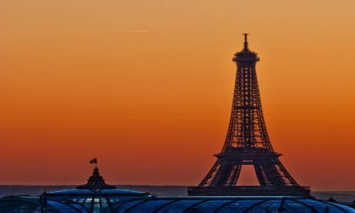 Zdjecie FRANCJA / Paris / Paris street / Eiffel Tower