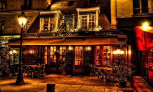 Zdjecie FRANCJA / Paris / Street / Paris streets at night.