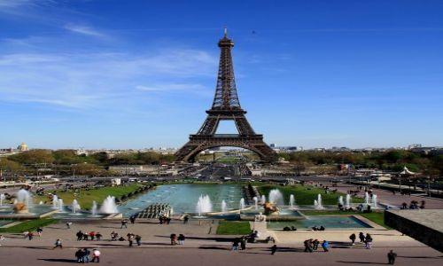 Zdjecie FRANCJA / - / Paryż, Place du Trocadero / wiosenny Paryż