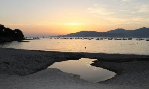 Zdjecie FRANCJA / Korsyka / Porticcio / zachód słońca