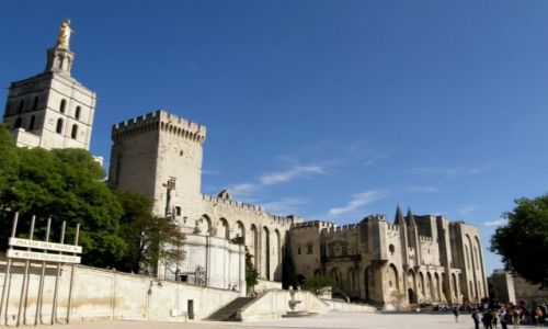Zdjecie FRANCJA / Prowansja / Awinion / Romańska katedra Notre Dame des Doms i pałac papieski