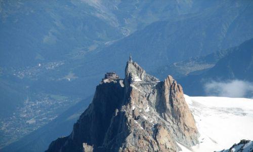 Zdjecie FRANCJA / Masyw Mont Blanc / Mont Blanc / Aigle du Midi z Mont Blanc
