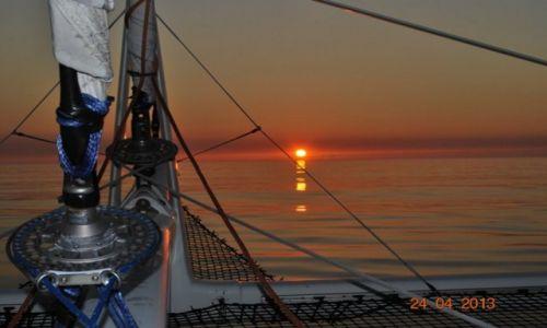 Zdjecie FRANCJA / -Atlantyk / na zachód od Lorient / zachód słońca