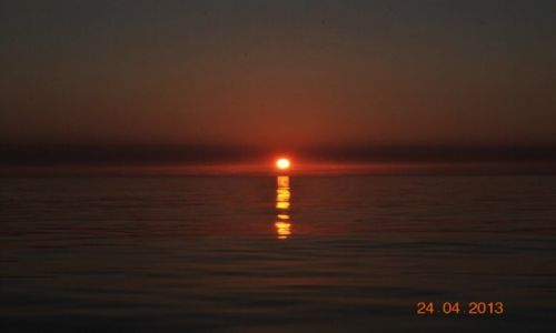 Zdjecie FRANCJA / Atlantyk / na zachód od Lorient / zachód słońca