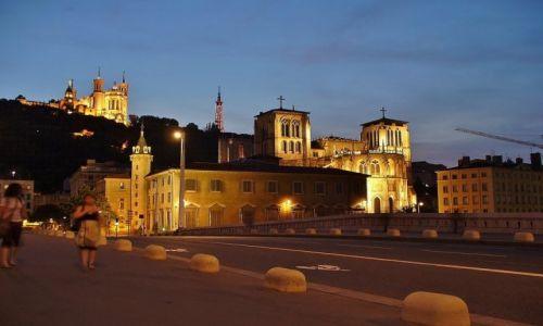 FRANCJA / Rhone / Lyon / Lyon, widok na Fourviere i katedrę