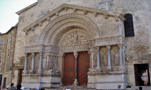 FRANCJA / Prowansja / Arles / Arles, st. Trophime- Portal kościoła
