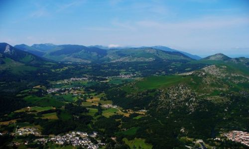 Zdjęcie FRANCJA / Haute-Pyrenees / Widok z Pic de Ger / Pireneje
