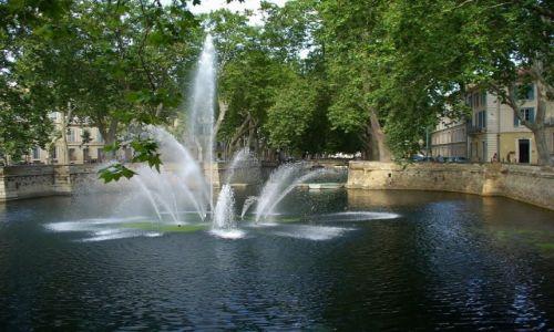 Zdjęcie FRANCJA / Langwedocja-Roussillon / Nimes / Nimes, fontanna