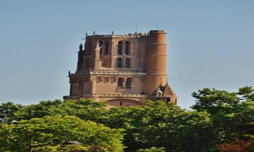 Zdjęcie FRANCJA / Midi-Pyrénées / Albi / Albi, wieża katedry