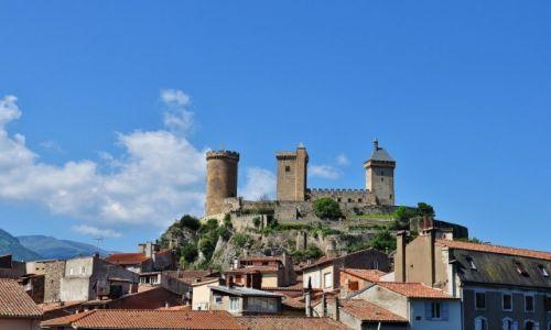 Zdjęcie FRANCJA / Midi-Pyrénées / Foix / Foix, widok na zamek