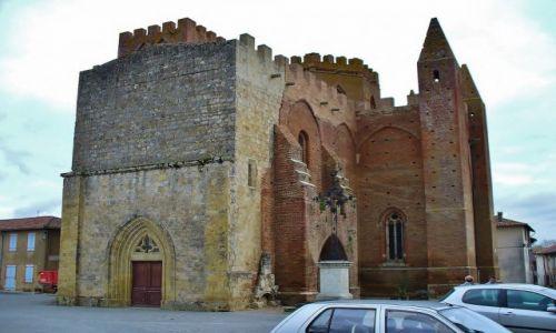 Zdjęcie FRANCJA / Gaskonia / Simorre / Simorre, średniowieczny kościół obronny