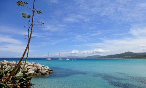 Zdjecie FRANCJA / Korsyka / L'Ile Rousse / nabrzeże w  L'Ile Rousse