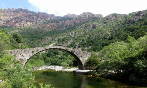 Zdjęcie FRANCJA / Korsyka / okolice Porto / zabytkowy Most Genovese