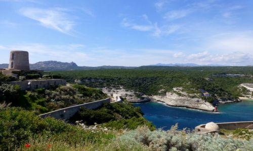 Zdjecie FRANCJA / Korsyka / Bonifacio / panorama z twierdzy