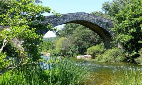 Zdjecie FRANCJA / Korsyka / w drodze do Sartene / zbytkowy most genueński