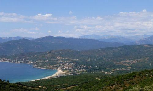 Zdjecie FRANCJA / Korsyka / na trasie do Ajaccio / widok na Golfe de Liscia