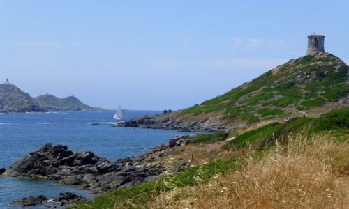 Zdj�cie FRANCJA / Korsyka / P�wysep La Parata / Pointe le Parata z widkiem na wyspy Sanguinaires