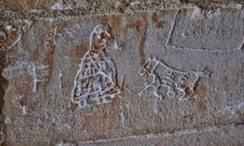 FRANCJA / Midi-Pyrénées / Foix / Foix, zamek, ścienne apiski więźniów