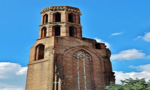 Zdjęcie FRANCJA / Midi-Pyrénées / Tuluza / Tuluza, wieża kościoła franciszkańskiego