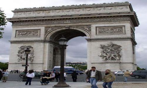 Zdjecie FRANCJA / brak / Paryż, Łuk Triumfalny / Łuk Triumfalny, Paryż