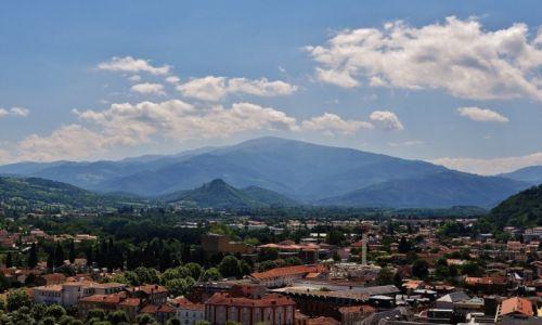 Zdjecie FRANCJA / Midi-Pyrénées / Foix / Foix, widok na Pireneje z zamku