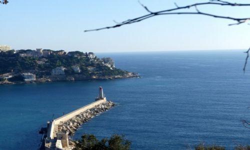 Zdjecie FRANCJA / Nicea / Wzgórze Zamkowe / Z widokiem na morze