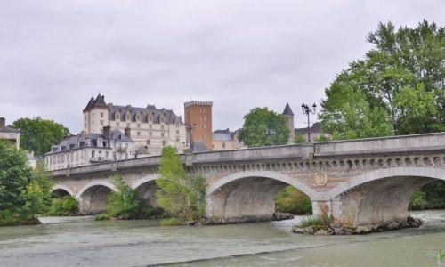 Zdjęcie FRANCJA / Pyrénées-Atlantiques / Pau / Pau, widok na zamek
