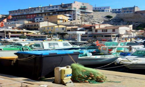 Zdjęcie FRANCJA / Prowansja / Marsylia / Miasteczko rybackie