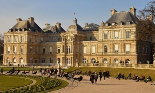 Zdjecie FRANCJA / - / Paryż / Słoneczny dzień w Ogrodzie Luksemburskim