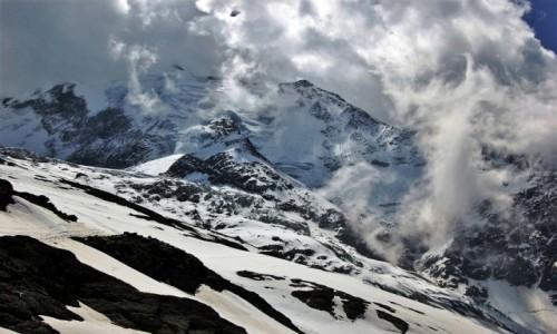 FRANCJA / Alpy Graickie - masyw Mont Blanc / Lodowiec Bionnassay / Lodowiec Bionnassay