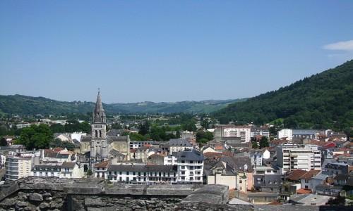 Zdjecie FRANCJA / Pireneje Francuskie / Lourdes / panorama miasta