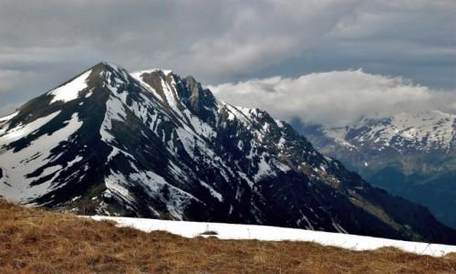 Zdjęcie FRANCJA / Alpy Graickie - masyw Mont Blanc / Biwak na szczycie szczycie M. Lachat / M. Vorassay