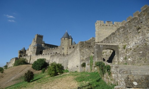 FRANCJA / Langwedocja-Roussillon / Carcassonne / Carcassonne, porte d'Aude