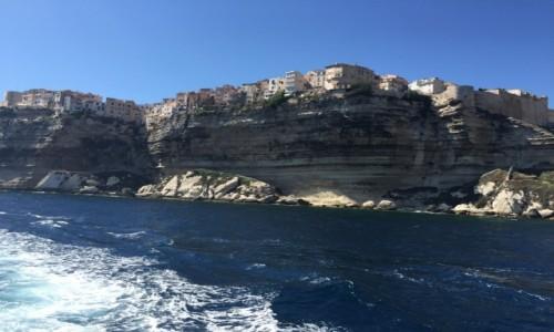Zdjęcie FRANCJA / Korsyka / Bonifaccio / Klif w Bonifaccio