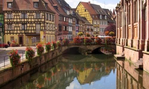 FRANCJA / Alzacja / Colmar - Petite Venise / Uroki Alzacji - Colmar