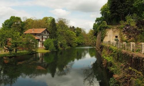 Zdjecie FRANCJA / Lotaryngia / Metz, PROMENADE DES REMPARTS ET FORT DE BELLECROIX / zielona promenada...
