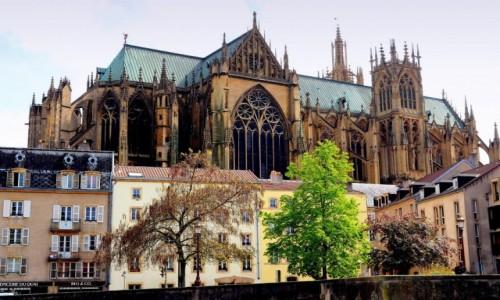 Zdjęcie FRANCJA / Lotaryngia / Metz / Cathédrale Saint-Étienne de Metz...
