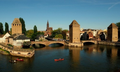 Zdjęcie FRANCJA / Alzacja / Strasburg / Les Ponts Couverts...