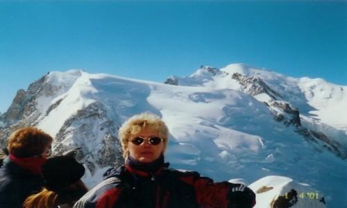Zdjecie FRANCJA / - / Aiguille du Midi – szczyt w Alpach w masywie Mont Blanc / Widok na  Mont Blanc z Aiguille du Midi