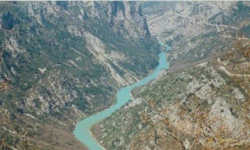Zdjecie FRANCJA / - / przełom rzeki Verdon w Prowansji / Verdon - najpiękniejszy kanion w Europie