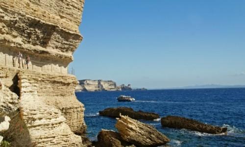 Zdjecie FRANCJA / Korsyka / Bonifacio / Bonifacio-ścieżka w klifie