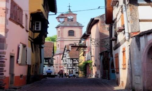 Zdjęcie FRANCJA / Alzacja / Riquewihr / uliczki jeszcze węższe...