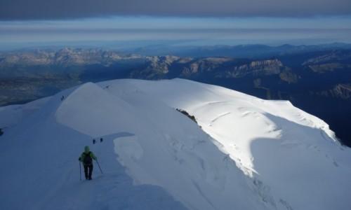 Zdjecie FRANCJA / Masyw Mont Blanc / Mont Blanc /  Droga powrotna.
