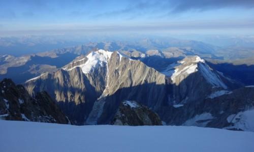 Zdjecie FRANCJA / Masyw Mont Blanc / Mont Blanc / Widok na szczyty.